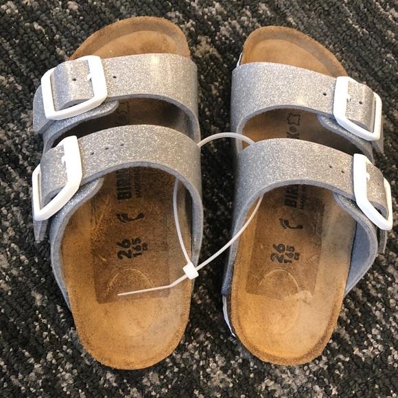 Birkenstock Shoes | Nwot Sparkly Silver